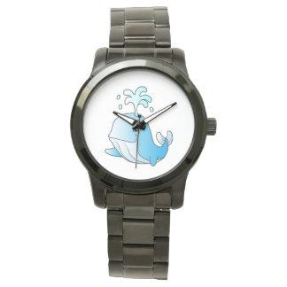 whale cartoon wristwatches