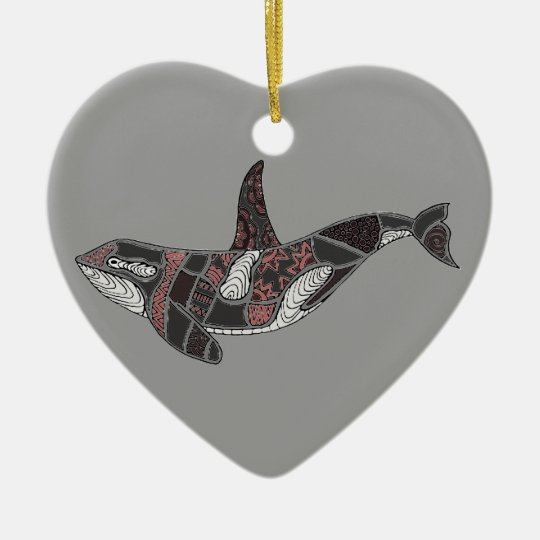 Whale Ceramic Heart Decoration