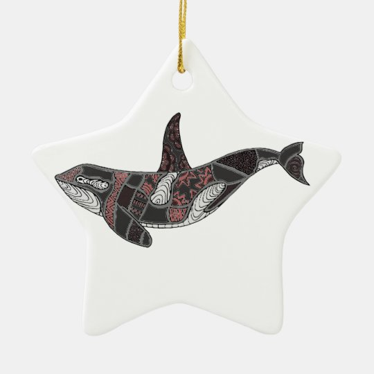 Whale Ceramic Ornament