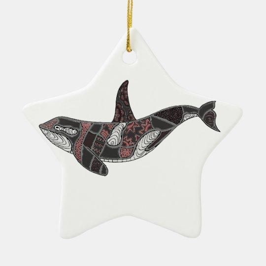 Whale Ceramic Star Decoration