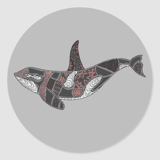 Whale Classic Round Sticker