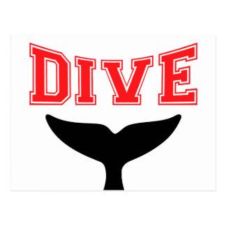 Whale Design SCUBA Dive Postcard