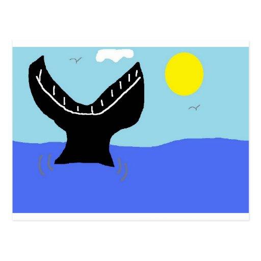 whale dive (2) postcards
