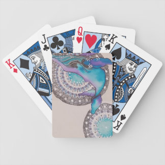 Whale grey bicycle playing cards