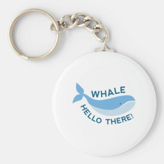 Whale Hello There! Basic Round Button Key Ring