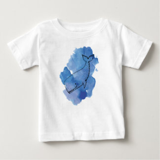 Whale in Watercolour Baby T-Shirt