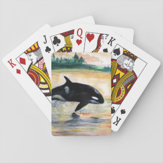 Whale Jumping Orca Classic Playing Cards