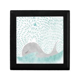 """""""Whale Love"""" Box Small Square Gift Box"""