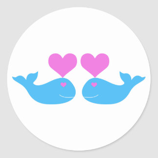 Whale Love Classic Round Sticker