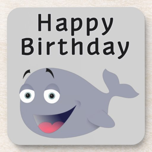 Whale of a Time - Happy Birthday Drink Coaster