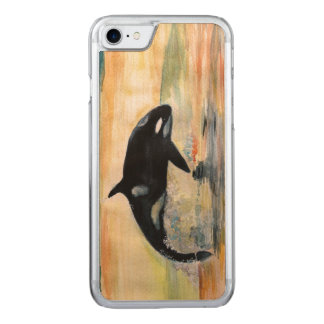 Whale Orca Apple iPhone 7 Slim Maple Wood Case