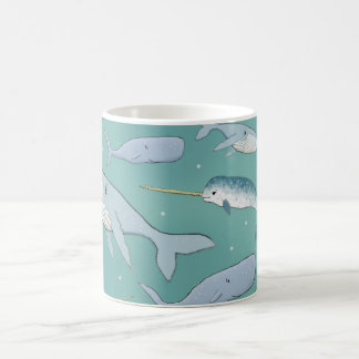 Whale Parade Pattern Coffee Mug