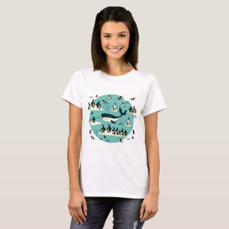 Whale & penguins T-Shirt