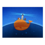 Whale Post Card