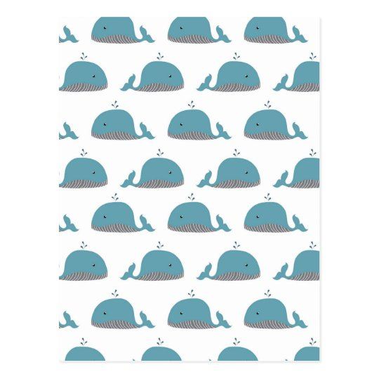 Whale Print Postcard