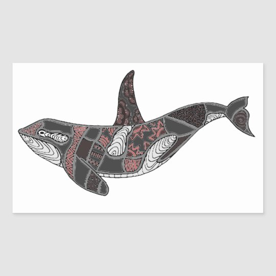 Whale Rectangular Sticker