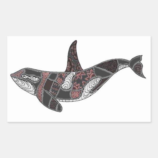 Whale Rectangular Sticker