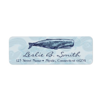 Whale Return Address Labels