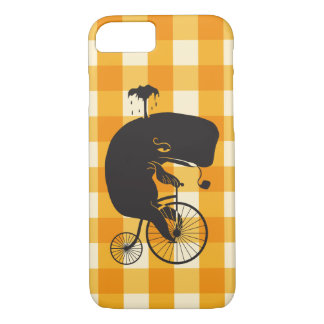 Whale Riding a Penny Farthing Bike iPhone 8/7 Case