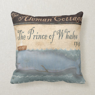 Whale royalty royals pub sign art cushion