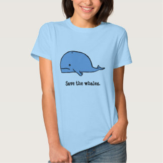 whale, Save the whales. Tshirts