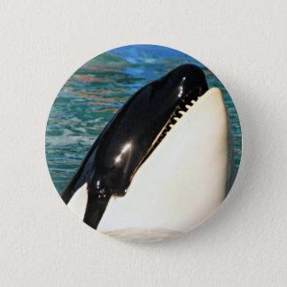 Whale Saying Hello 6 Cm Round Badge