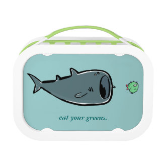 whale shark and small fishes lunchbox