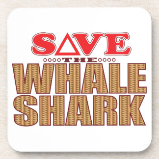 Whale Shark Save Beverage Coaster