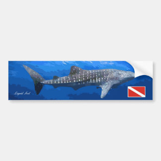 Whale Shark Sticker Bumper Sticker