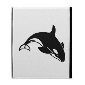 Whale Silhouette iPad Folio Case