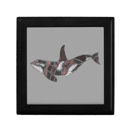 Whale Small Square Gift Box