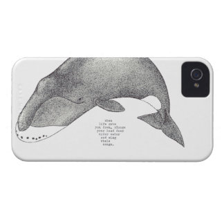 """whale songs"" iPhone 4/4s cover"