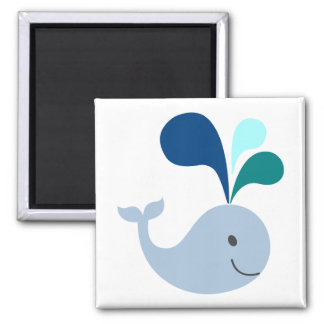Whale Square Magnet