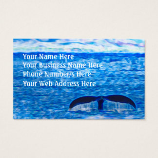 Whale Tail Blue Ocean Inspirational Optimism Business Card