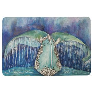whale tail floor mat