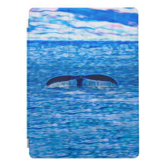 Whale Tail Fractal Blue and Pink iPad Pro Cover