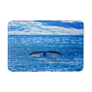 Whale Tail Off The Coast of Maui, Hawaii Bath Mats