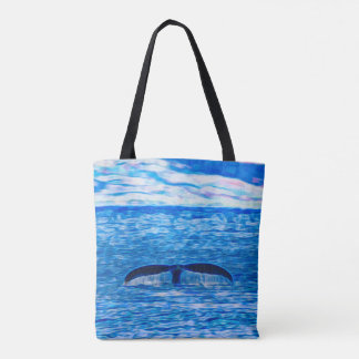 Whale Tail Off The Coast of Maui, Hawaii Tote Bag