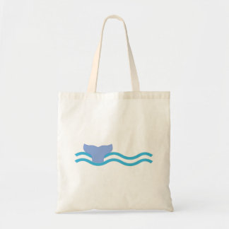 Whale Tail Budget Tote Bag