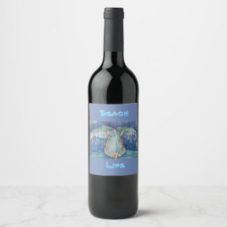 whale tail wine label