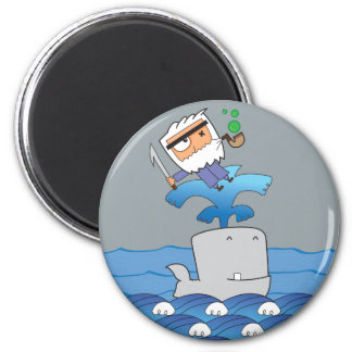 Whale Tale 6 Cm Round Magnet