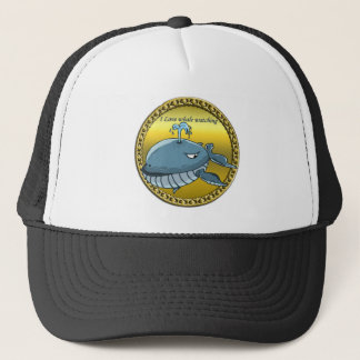 whale watching for giant floating blue whales trucker hat