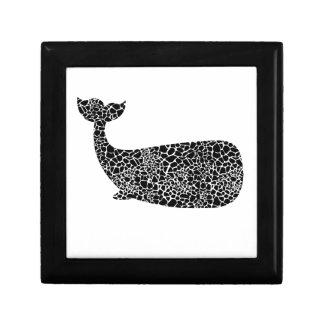 Whale with giraffe print gift box