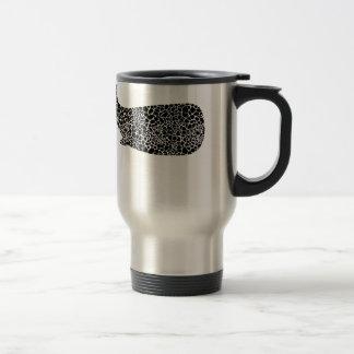 Whale with giraffe print travel mug