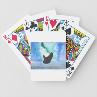 Whale With Northern Lights Bicycle Playing Cards