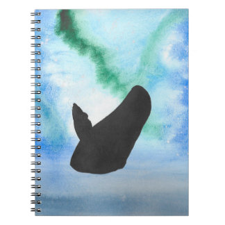Whale With Northern Lights Notebook