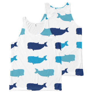 Whales All-Over Print Singlet