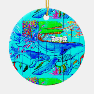whales and dolphins ornament