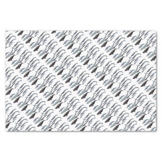 Whales and right whales tissue paper
