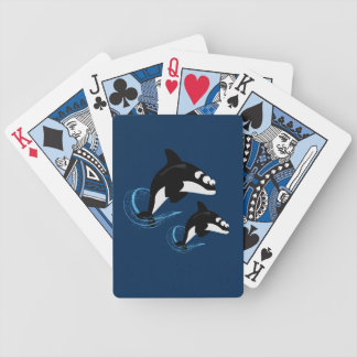 whales bicycle playing cards